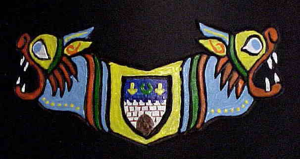 Detail on gorget